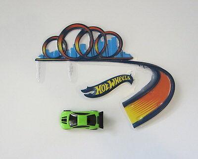 1 Hot Wheels Drift Car Decoset Bday Party Cake Topper 2 Pc Set Decor Decoration](Hot Wheels Birthday Cake)