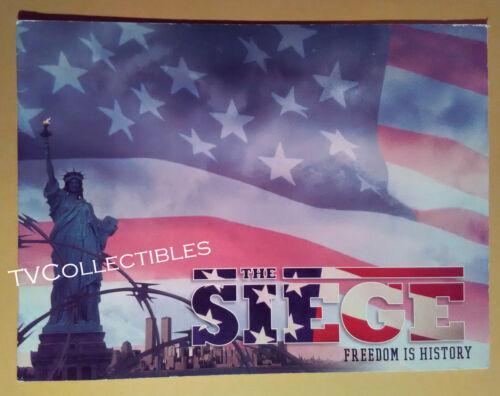 Press-book~ THE SIEGE ~1998 ~Denzel Washington ~Bruce Willis ~Annette Bening