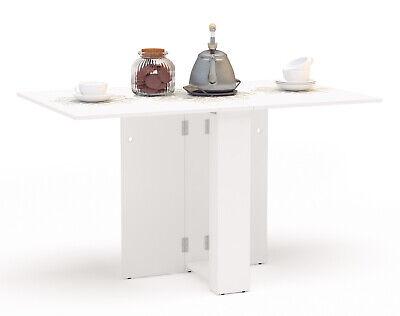 Mesa cocina Swing abatible plegable color blanca moderna mueble 18-135x75x80 cm