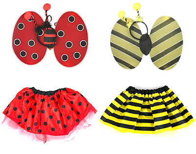 Bumble Bee Tutu (BUMBLE BEE OR LADYBIRD FANCY DRESS COSTUME TUTU WINGS HEAD BOPPER SET)