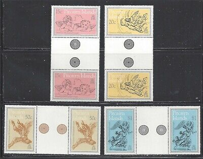 PITCAIRN ISLANDS - 217-220 - GUTTER PAIRS - MNH -1982 - PAINTINGS BY RAPHAEL