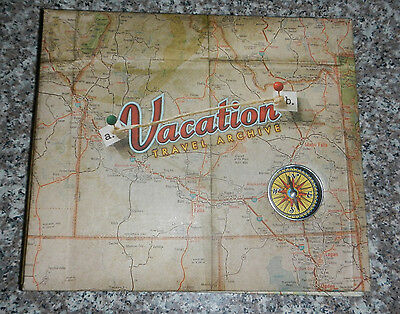 (Vacation Travel Archive Compass Scrapbook Photo Picture Album 8.5