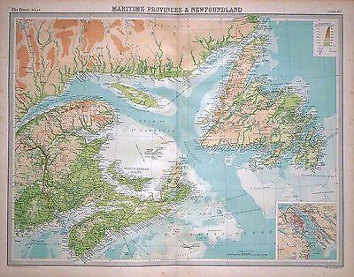 1920 LARGE MAP ~ MARITIME PROVINCES & NEWFOUNDLAND ~ 23