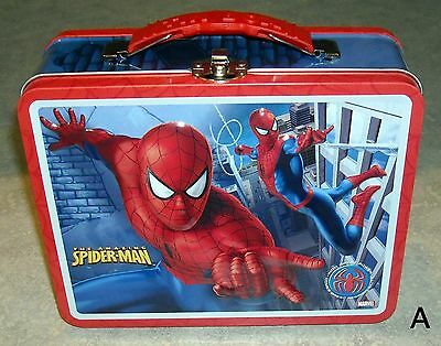 NEW old stock 2007 Spiderman 3D Tin Lunch Box/toy carrier-Marvel (A)