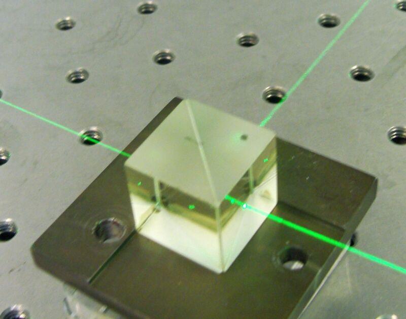 Non-Polarizing Cube Beam Splitter 20mm mounted base for Newport MM-2 laser optic