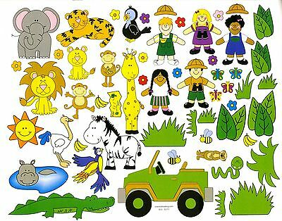 Safari sticker scene. Design your own scene. Great gift idea. One set.](Safari Craft Ideas)