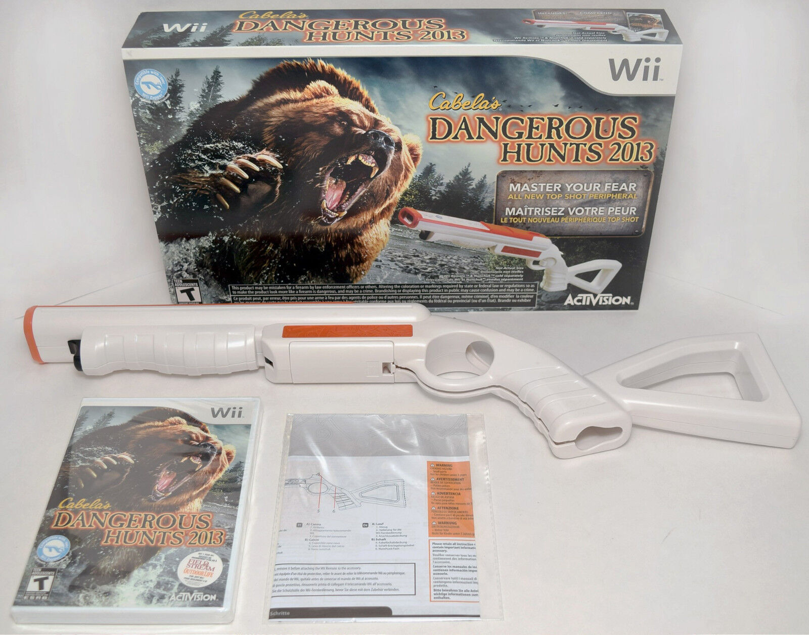 New Wii U Games 2013 : New wii u cabela s dangerous hunts game gun
