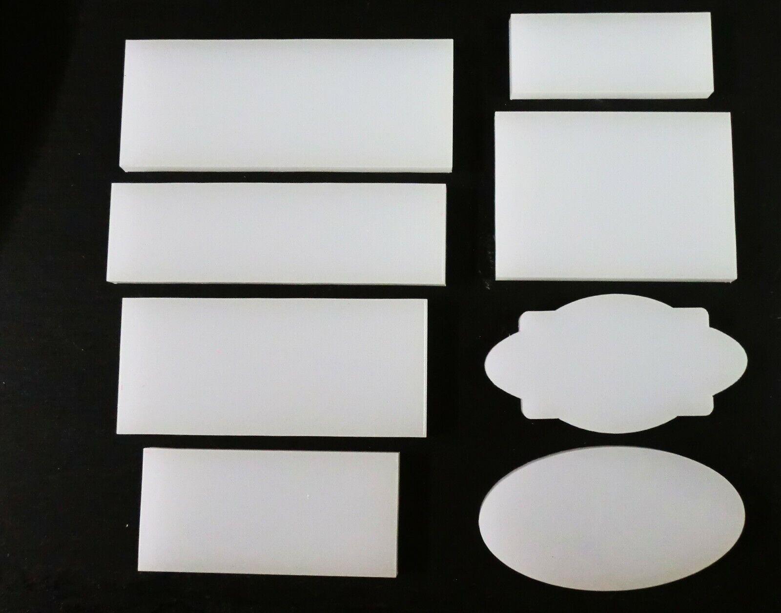 3 Stück Acryl Plexi Schilder Satinice LED Hinterbeleuchtung versch. Größen Form