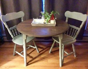 Dining Room Table And Set Of Chairs