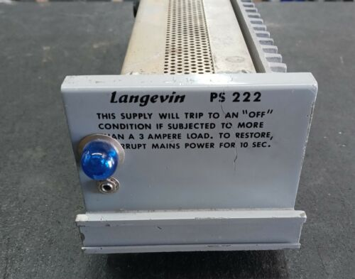 Langevin PS 222 Power Supply and Mounting Tray - Vintage!!