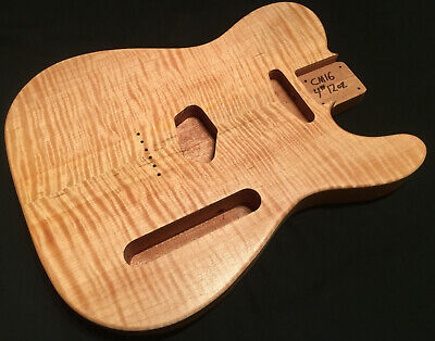 Telecaster guitar body - KILLER CURLY MAPLE ON AFRICAN MAHOGANY