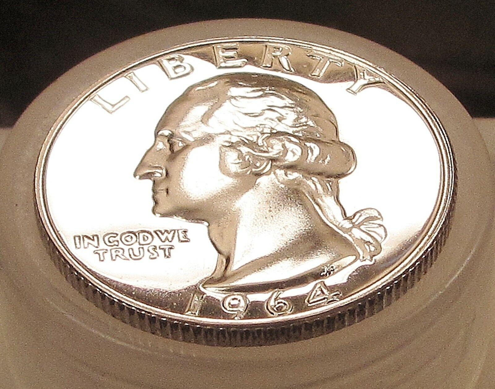 1964 Proof Quarter 90 SILVER Blazing Luster 409 9 - $8.60