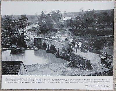Vintage 11x14 Photograph Civil War Burnside's Bridge Battle of Antietam site