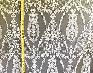 Lace Curtain & Tablecloth Off White 58