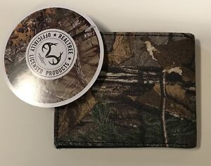RFID Blocking Bifold Camouflage (camo) RealTree Mens Wallet - ID Flap SP511MP