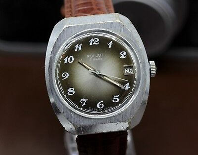 Vintage Poljot 23 Jewels Mechanical Automatic USSR Soviet Dress Watch PJ32