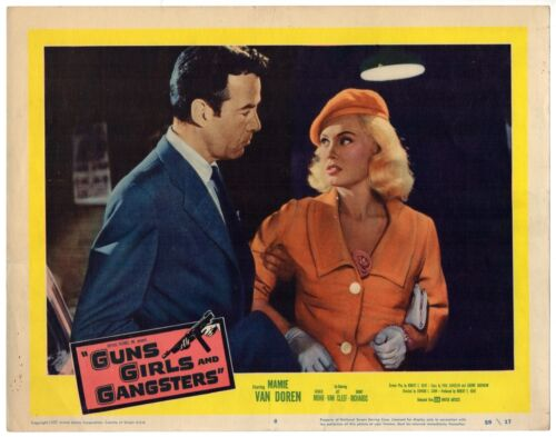 GUNS GIRLS AND GANGSTERS (1959) Mamie Van Doren & Gerald Mohr Crime Drama LC #8