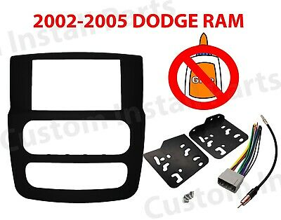CAR STEREO RADIO DOUBLE DIN INSTALLATION DASH KIT Fits 02 03 04 05 DODGE RAM