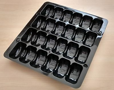 BLACK DISPLAY TRAY PACKAGING CONTAINER 24 FRENCH MACAROONS MACARONS pack of 10 (Macaron Display Tray)