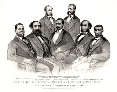 Artwork-First Colored Senator and Representatives in 41st and 42nd Congress U.S.