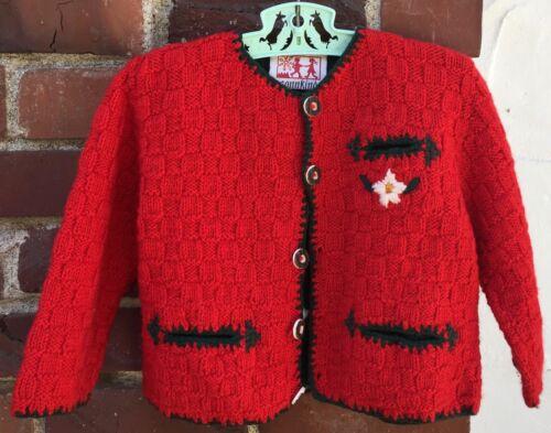 SONNKIND red Knit Cardigan Oktoberfest toddler baby 18m 24m 2t Austrian sweater