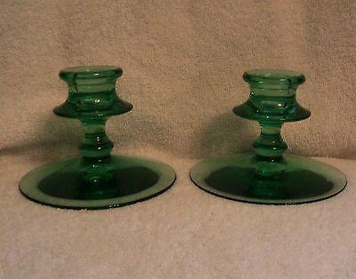 2 Vintage Fostoria Glass Fairfax Candle Holders Candlesticks