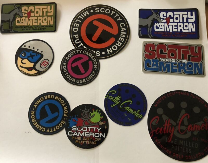 New Lot of 10 SCOTTY CAMERON GALLERY STICKERS Circle T Paint Donkey Johnny Racer