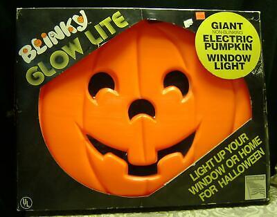 "Halloween~Blinky Pumpkin~Blow Mold~Jack-O-Lantern~16 x 20""~Light-Up~In Box~1995"