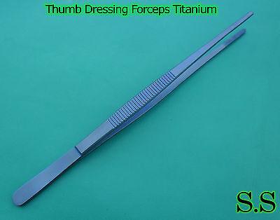 Thumb Dressing Forceps 6 Titanium Surgical Instruments