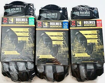 Holmes Workwear High-performance Work Gloves Medium Large Or X-large 2 Pairs