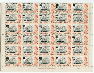 TRISTAN da CUNHA QEII 1 1/2p on 4d *** WHOLE SHEET of 60 STAMPS ***