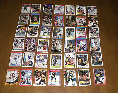 42 PITTSBURGH PENGUINS MARIO LEMIEUX ASSORTED HOCKEY CARDS