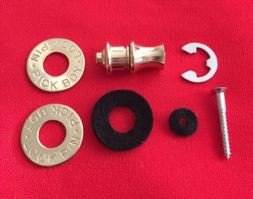 BRASS STRAP LOCK BUTTONS  FROM THE 70