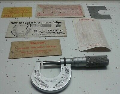 Starrett 1 Micrometer 230 With Friction Thimble With Lock Nut