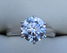 1.5ct DIAMOND ENGAGEMENT RING TIFFANY STYLE GIA LASER CERTIFIED Melbourne CBD Melbourne City Preview