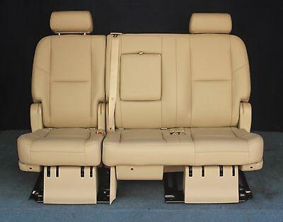 Denali 2nd Row Bench Seats - 2010 2009 Escalade ESV, Yukon XL Denali 2nd Row Bench Seat Tan Leather