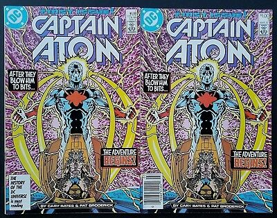 DC Comics Copper Age Captain Atom #1 1st App Set Direct & Newsstand VF/NM!