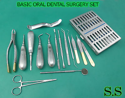 18 Pcs Premium Basic Oral Dental Surgery Surgical Instruments Set Kit Dn-544