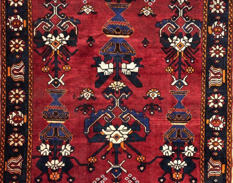 Terrific Tribal - 1940s Antique Oriental Rug - Nomadic Gallery - 5.3 X 10 Ft.