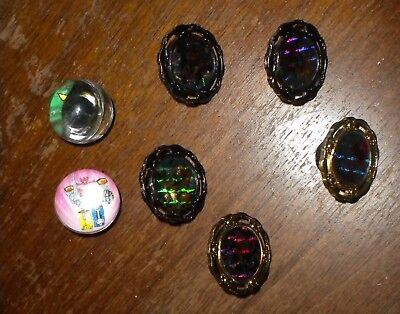 Spin Halloween Costumes (5 ASSORTED POWER RANGER HOLOGRAPHIC SPIN FIGHTERS & 2 MMPR ACTION GLASS)