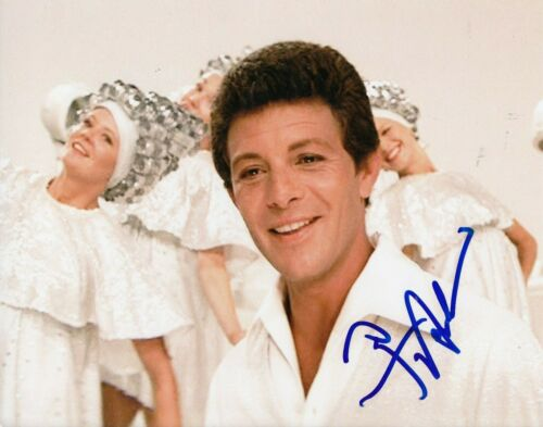 FRANKIE AVALON signed (GREASE) Movie 8X10 photo *Beauty School Dropout* W/COA #3