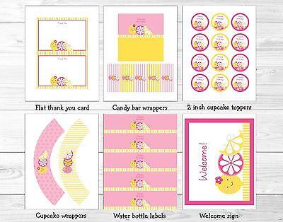 Pink Lemonade Birthday Party (Pink Lemonade Printable Birthday Party)