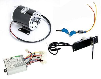 500 W 24 V Dc Electric Kart Motor Kit W Basespeed Controlfoot Throttlekeylock