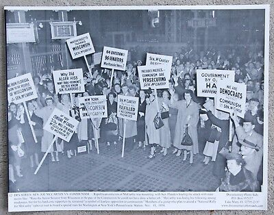 Rare Vintage 11x14 Photograph Group of Senator Joseph McCarthy Supporters 1954
