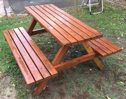 Timber Garden Picnic Table and Seats