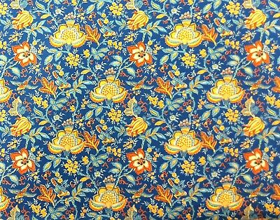 ST12 Provence France Valdrome Floral French Qualified in Dec Cotton Fabric