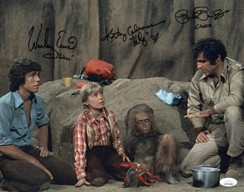 LAND OF THE LOST Cast X3 Signed 11x14 Photo IN PERSON Autograph JSA COA