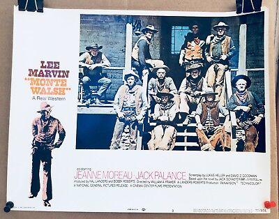 Monte Walsh 1970 11x14 Orig Lobby Card Lee Marvin Western