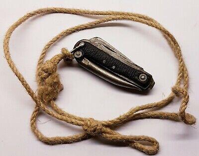WW2 British Army Military Pocket Knife IXL Wostenholm 1944 Sheffield + Lanyard