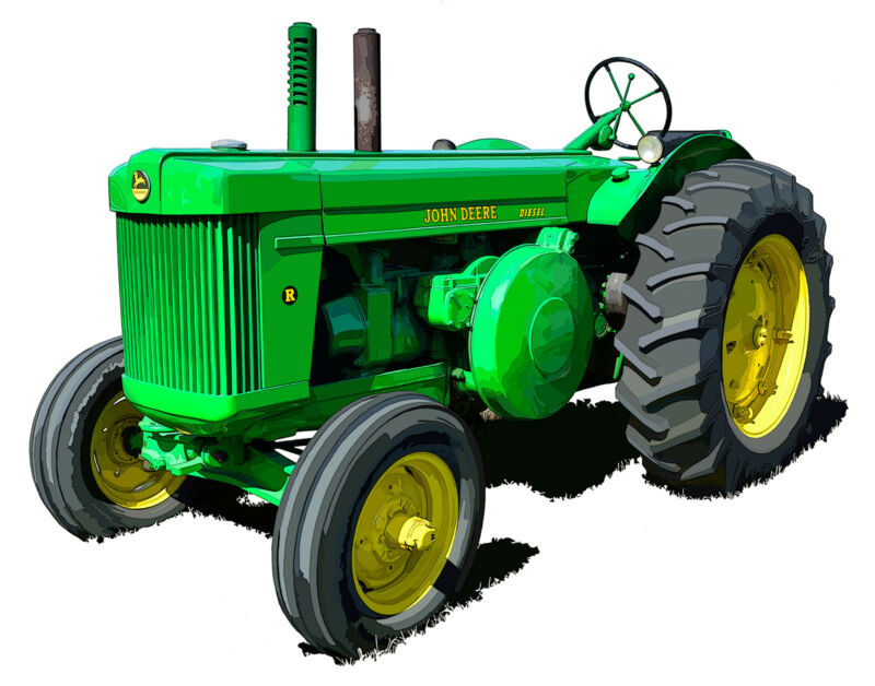 John Deere Model R - canvas art print by Richard Browne farm tractor